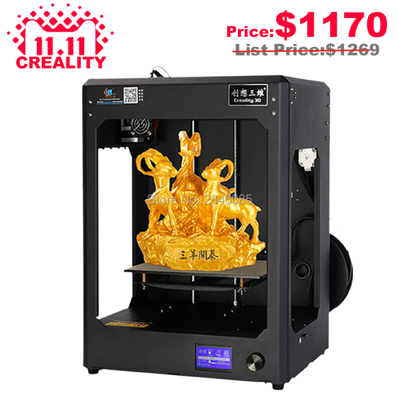 2017 Newesst CREALITY 3D CR-5 Full Assembled 3D Printer Large Printing Size Industrial-grade PCB Mainboard With Filaments Free
