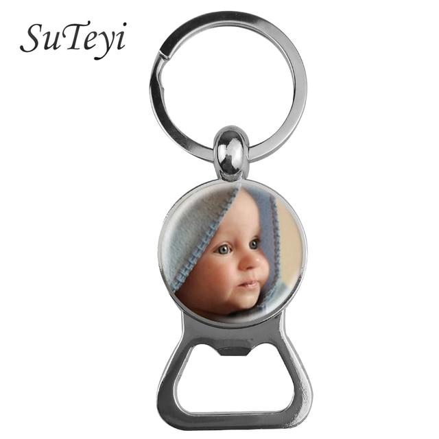 SUTEYI Personalized Photo Key Chain Bottle Opener Keychain Custom Photo of Your