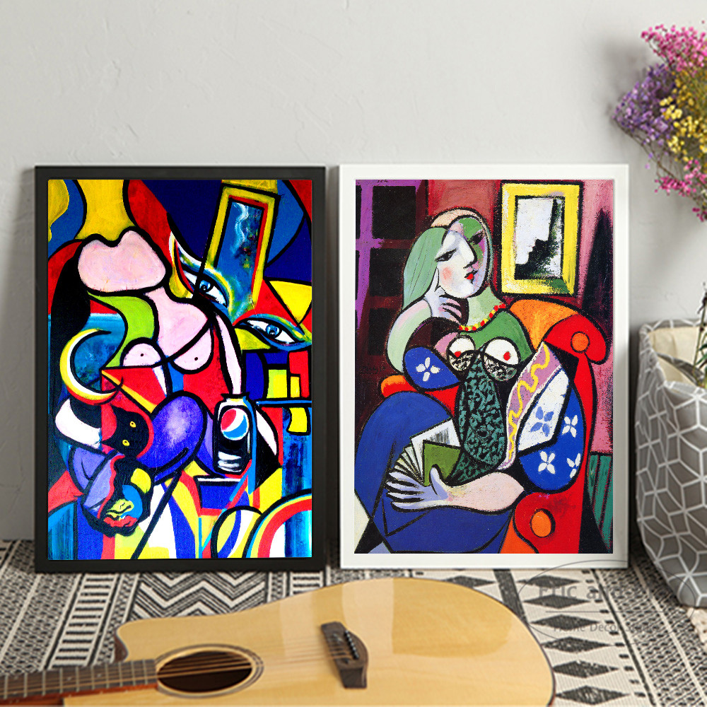 PICASSO Women Abstract Canvas Art Print Painting Poster Wall Pictures For Living Room Home Decorative Bedroom Decor No Frame