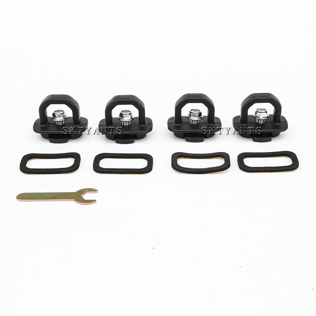 Truck Bed Side Wall Anchors Tie Downs Anchors Hook Ring for 2007-2018 Chevy Silverado GMC Sierra, 2015-2018 Colorado Canyon