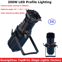 200W RGBW 4IN1 DMX LED Profile Spot Lights 4 Colors COB Source With 9 DMX Channels Commercial Application Theaters Television