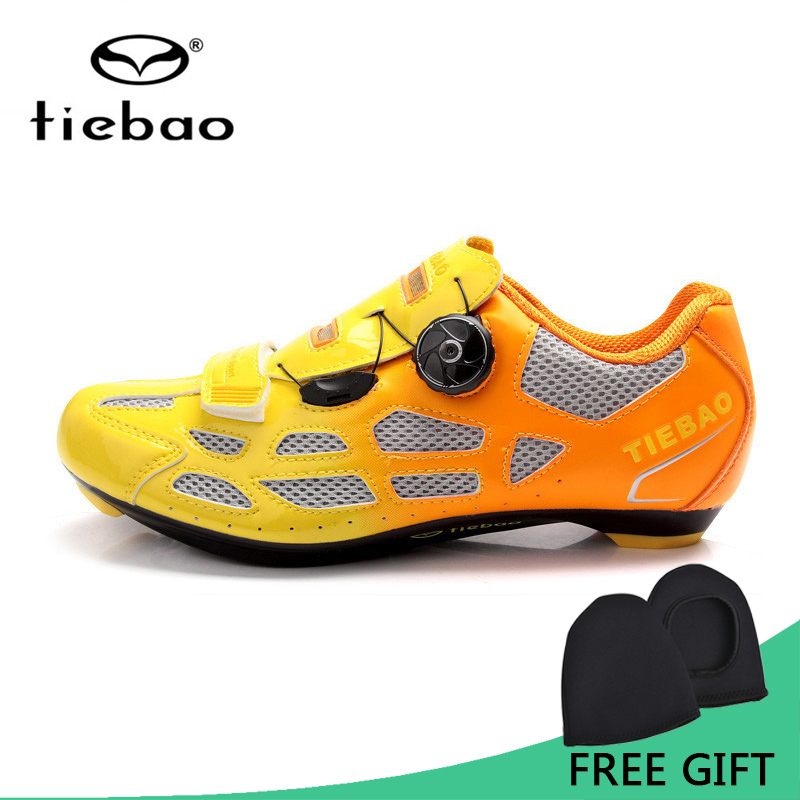 Tiebao Bicycle Cycling Shoes Breathable Men Women Road Bike Racing Athletic Shoes Self-Locking Shoes zapatillas ciclismo free shipping candy color women garden shoes breathable women beach shoes hsa21