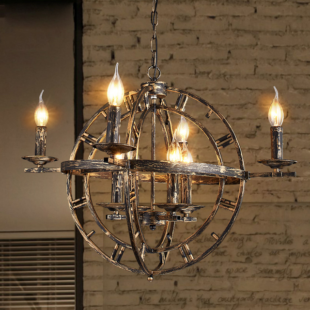 Vintage Industrial Pendant Lamps Metal Globe Pendant Lights