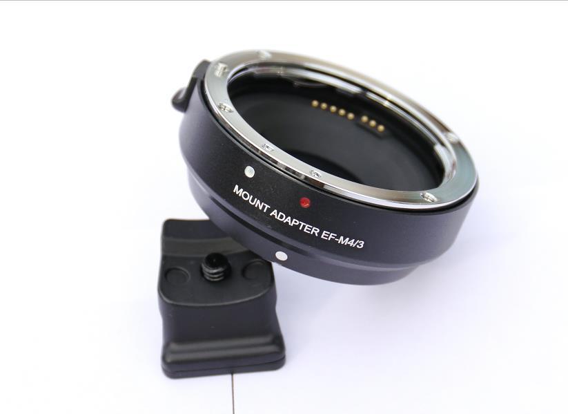 EF-MFT Electronic Aperture Control Lens Mount Adapter for Canon EF & EF-S to Olympus PEN E-P1 P2/3/5 E-PL1 OM-D E-M5 camera