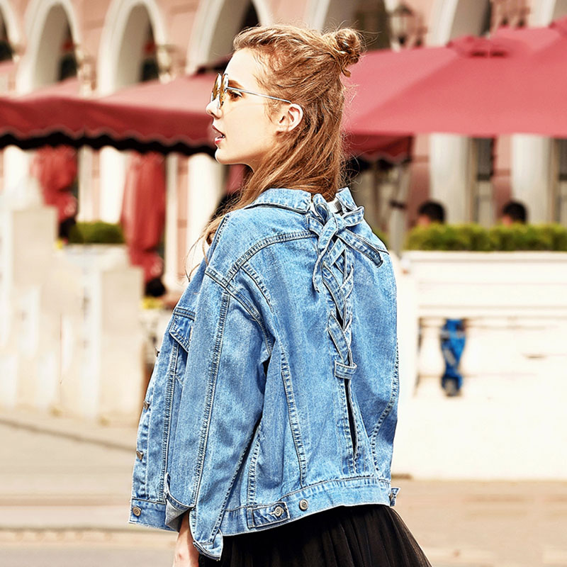 Spring Autumn Women Denim Jackets 2019 Fashion New Large Size Solid Color Short Coats Female Long-sleeved Loose Outerwear N153