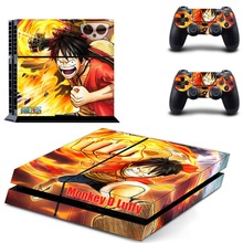One Piece Vinyl Cover Decal PS4 Skin Sticker for Sony PlayStation 4 Console & 2 Controller Skins Stickers