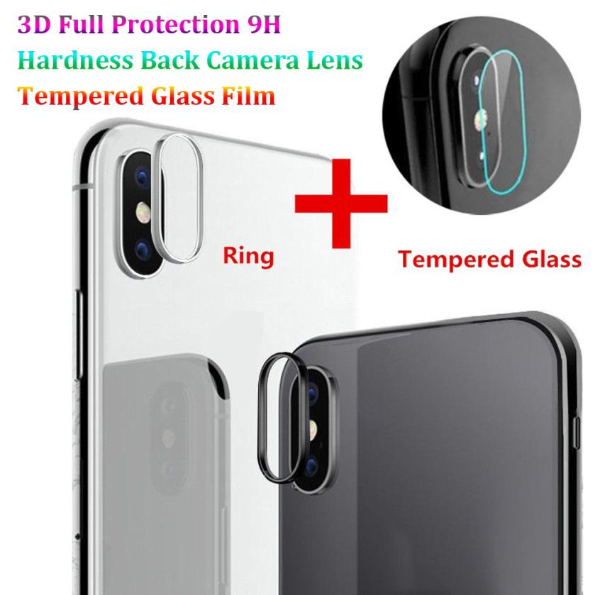 Colors Back Camera Lens Protector For iPhone X 9H Hardness Tempered Glass Film 3D Protector Cover For iPhone X 9H Hardness