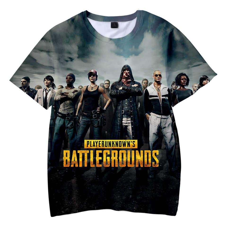 Di vendita Caldo freddo PUBG Capretti della maglietta Dei Ragazzi/Ragazze di Modo di Estate Popolare Gioco Chidren T-Shirt 3D Stampa PUBG Del Capretto t-Shirt Magliette Vestiti