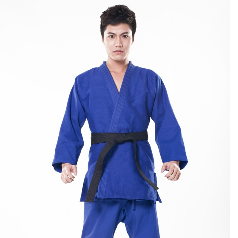 Kimonos Masculinos e Femininos feito de Algodão | Jiujitsu BJJ – Aikido – Judô – Blue, M