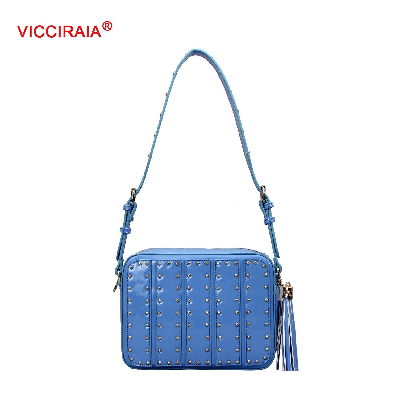 ФОТО VICCIRAIA New Imitation Leather Women Handbags Fashion PU Leather Hobo Bag