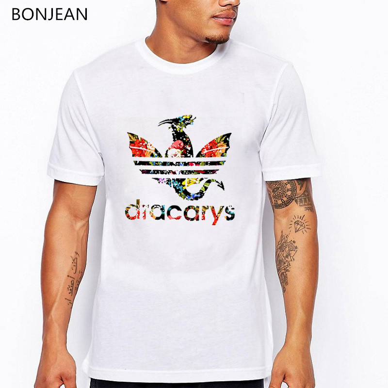 Game Of Thrones Print T-Shirt Men 2019 Summer Tops Unisex Dracarys Design Tshirt Men Harajuku Shirt Streetwear Tee Shirt Homme