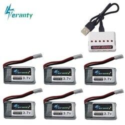 6 шт 3,7 V 300mAh литий-полимерный Батарея и 6-в-1 Зарядное устройство для Syma X11 E55 FQ777 FQ17W F180 FY530 U816 U816A U830 X100 H107 S39-1 HD-1306