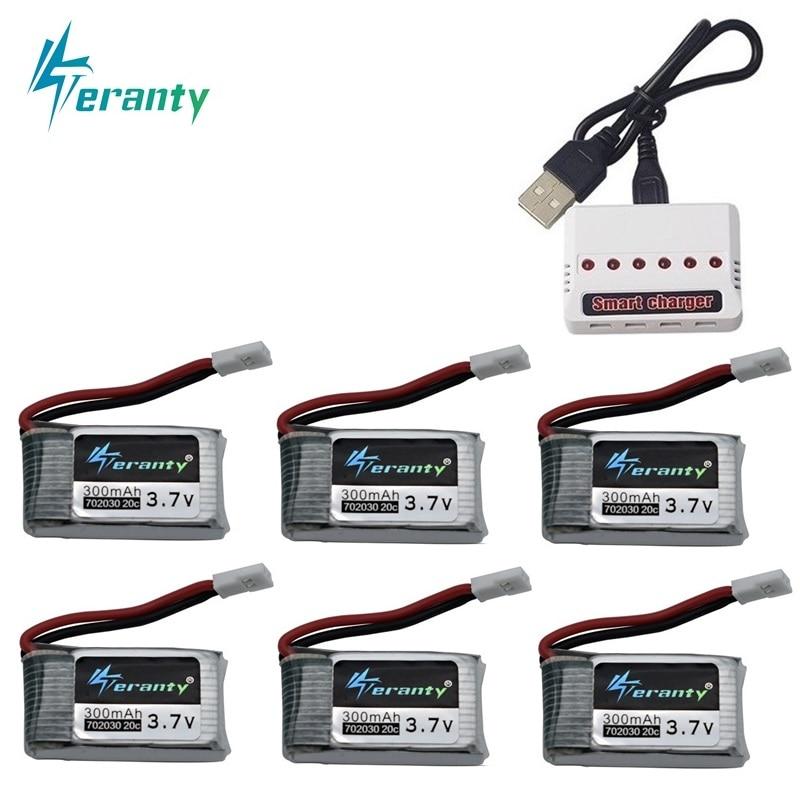 6pcs 3.7V 300mAh lipo Battery and 6-in-1 Charger For Syma X11 E55 FQ777 FQ17W F180 FY530 U816 U816A U830 X100 H107 S39-1 HD-13066pcs 3.7V 300mAh lipo Battery and 6-in-1 Charger For Syma X11 E55 FQ777 FQ17W F180 FY530 U816 U816A U830 X100 H107 S39-1 HD-1306