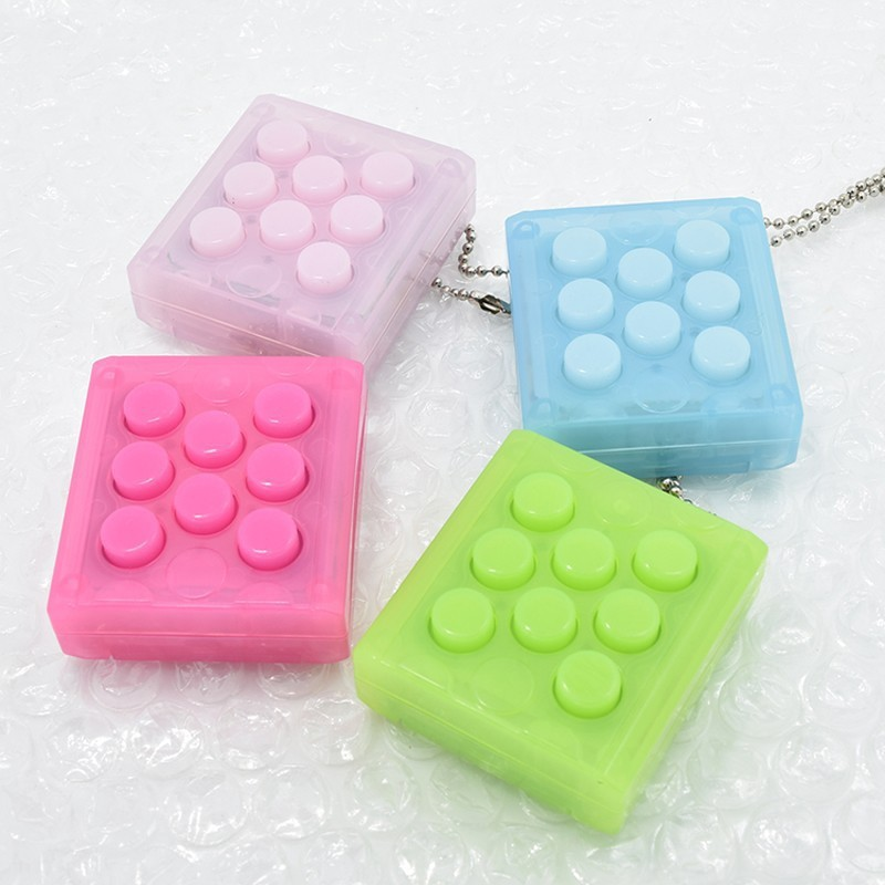Ship From US&CN Multi-color Limitless Squeeze Cube Key Chain Toys Bubble Stress Relief Anti-anxiety Time Killer Gift Toys