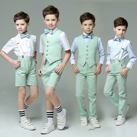 High Top Chorus Boy's Suit Summer Short Sleeve Children's Day Festival 4pcs/set Handsome Formal Show/Performance Wear Blazers