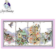Joy Sunday,birds,cross stitch embroidery set,printing cloth embroidery kit,needlework,birds pattern cross stitch embroidery kit joy sunday magnolia flower cross stitch embroidery set printing cloth embroidery kit needlework flowers picture cross stitch kit
