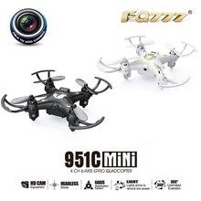FQ777-951C 2.4 Ghz 6-Axis Gyro RC Quadcopter Helicóptero Mini Drone Con Cámara de Registro
