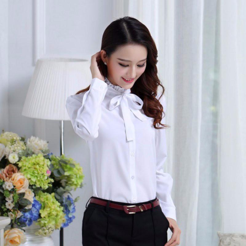 HTB1ClLVNpXXXXbtXFXXq6xXFXXXV - FREE SHIPPING White Blouse Shirt Women Work Wear Long Sleeve JKP092