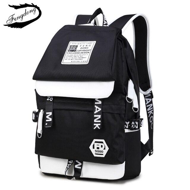Fengdong бренд средней школы школьные сумка мужчин рюкзак модные тенденции Попутчики рюкзак для мужчин Высокое качество Mochila