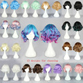 New 30cm wig Short Curly Sweet Lolita Cosplay Wigs for Sexy Women Synthetic wigs Cheap Anime Harajuku Lolita Wig Free shipping