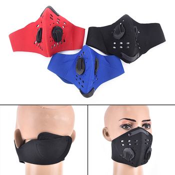 1pc Activated Carbon Filter Windproof Mouth-muffle  Proof Flu Face Masks Care PM2.5 Anti Dust Mask 3 Colors Mouth Mask