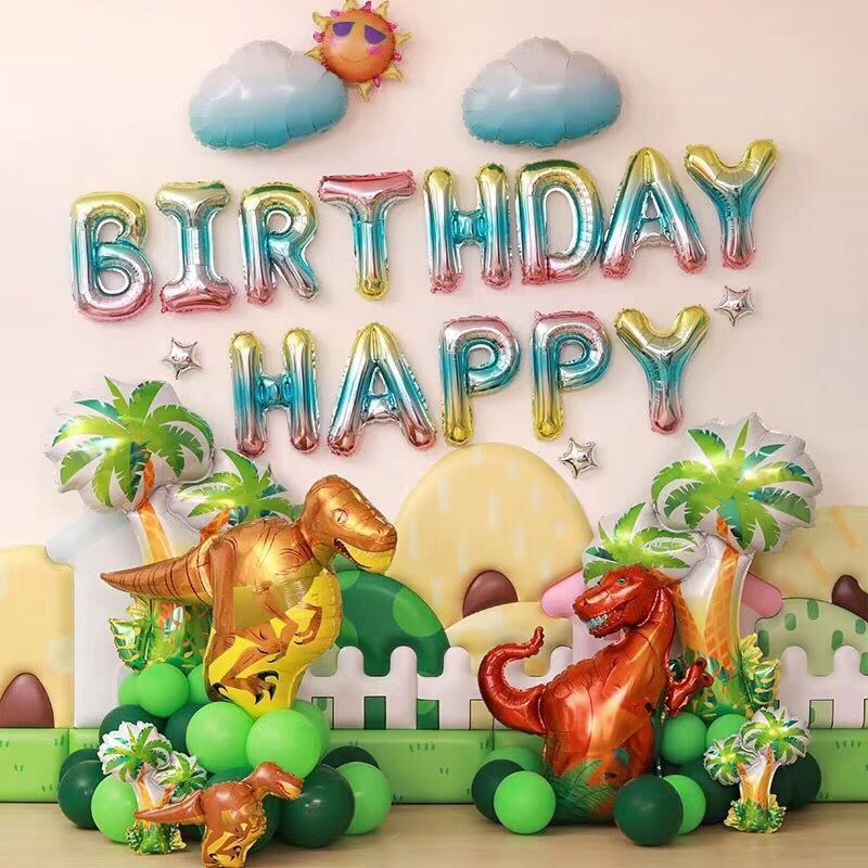Birthday Decoration Balloons Sets Dinosaur Party Walking Pet Baloons  Forest  Ocean Theme Party  Globos Baby Shower Ballon