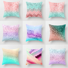Elife rose gold pink glitter ombre marble Linen cotton cushion Cover Polyester Home Decor Bedroom Sofa Car Throw Pillows case