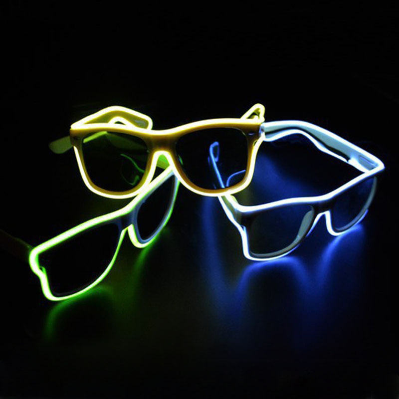 TGETH Inteligentny pilot EL Wire Fashion Neon LED Light Up Shutter Shave Glow Rave Costume Party DJ Bright