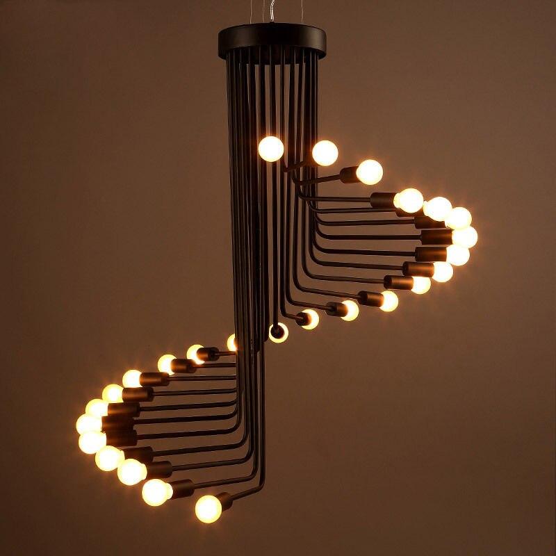 exposed bulb lighting. rustic loft spiral staircase exposed bulbs ceiling hanging pendant lights decor ac110v220v e27 bulb lighting