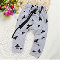 2017 baby дети брюки дети бобо выбирает одежды мальчиков хлопка брюки брюки птица печати одежда брюки для мальчиков YAA020
