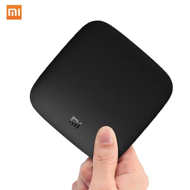 Internacional Xiaomi mi caja de 3 Android 8,0 Smart WiFi Bluetooth 4K HDR H.265 Set top TV Box Youtube reproductor multimedia Netflix DTS IPTV