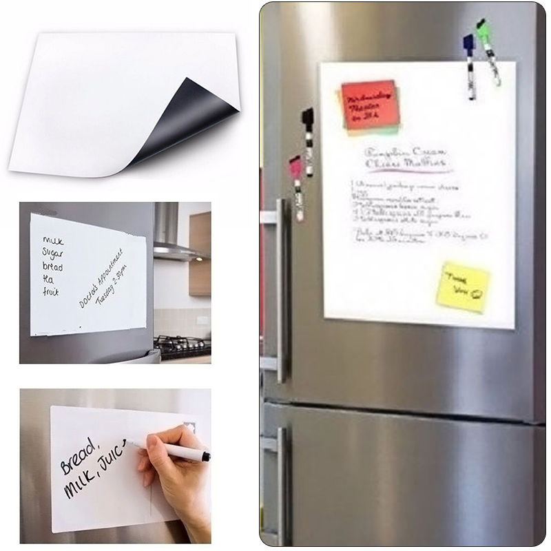 a3 fridge magnet flexible mini magnetic whiteboard for fridge writing message board for. Black Bedroom Furniture Sets. Home Design Ideas