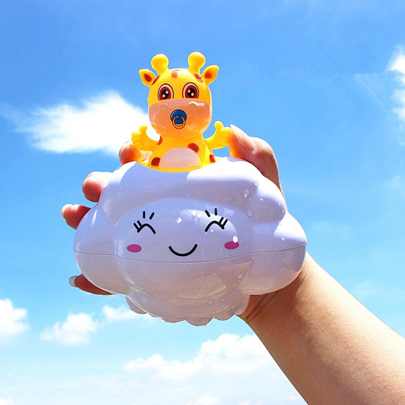 Newest Baby Bath Toys Rain Clouds Deer Water Toys Spraying Beach Swimming Bathing Funny Toys Cartoon Classic Kid Toys