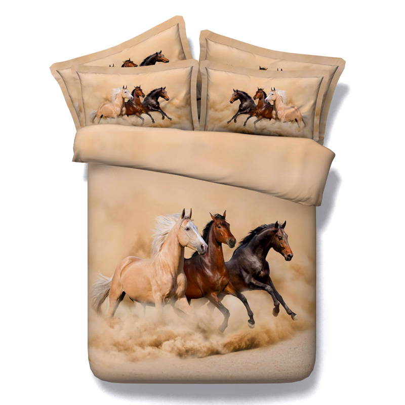 bedclothes set cover queen full covers comforter duvet usa horse with animal sizes pillowcase black bedding sets print king size twin hd product