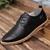 Primavera Otoño Hombres Zapatos Casuales Genuino Oficina de Los Hombres de Tendencia Botas de Cuero Suave Transpirable Zapatos con cordones Planos de Registro Sólido Maschio