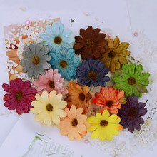 10pcs artificial flowers for home Fake decor accessories flower wall DIY gifts box Christmas garland silk daisy sunflower
