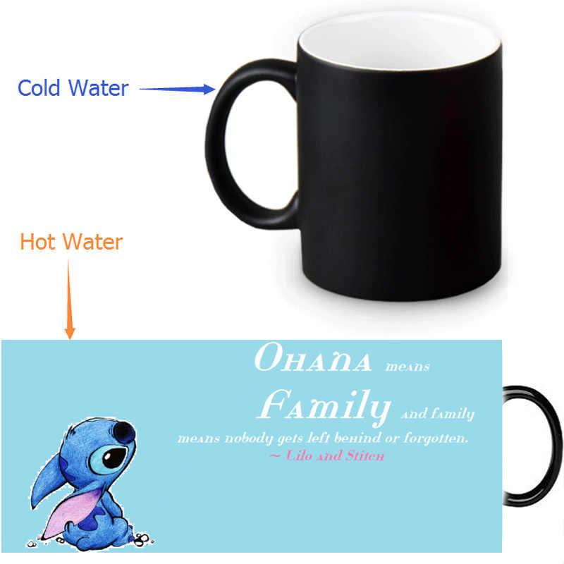 2ec554fbbca Detail Feedback Questions about Lilo&Stitch Ohana Quote Color Change Coffee  Mug Sensitive Morphing Mugs Birthday Festival Gift Espresso Tea Milk Mugs  350ml ...