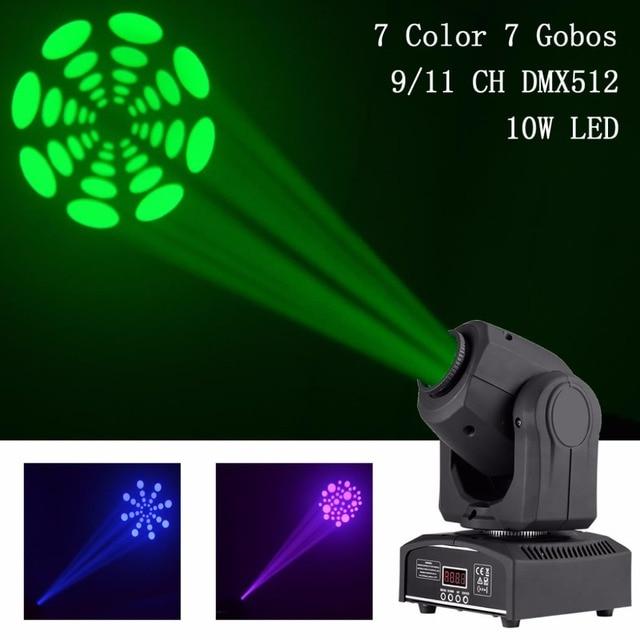 AUCD 10W / 30W Mini DMX512 Professional 9/11 CH Moving Head Light RGBW LED Patterns Stage Lights Party Disco Show DJ Lighting