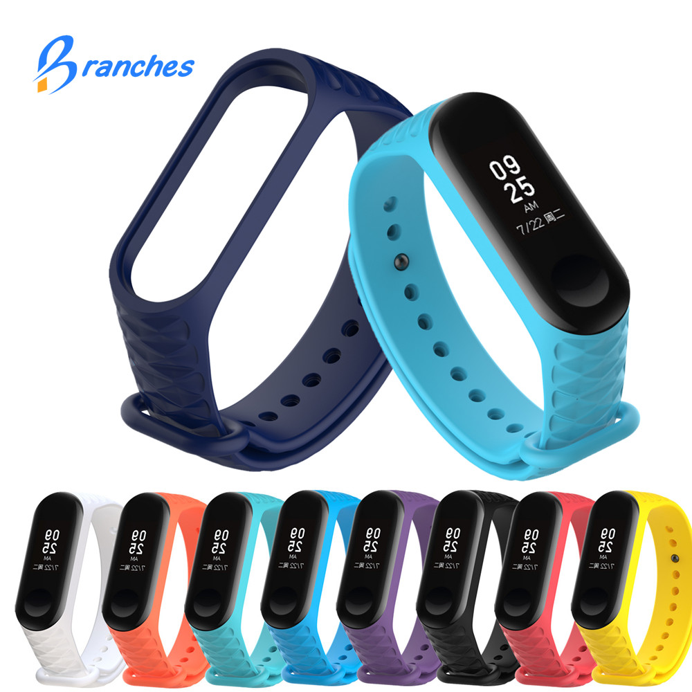 Mi Band 4 3 Bracelet Strap For Miband 4 3 Strap Wristband Replacement Smart Band Wrist Strap For Xiaomi Mi Band 4 3 Silicone