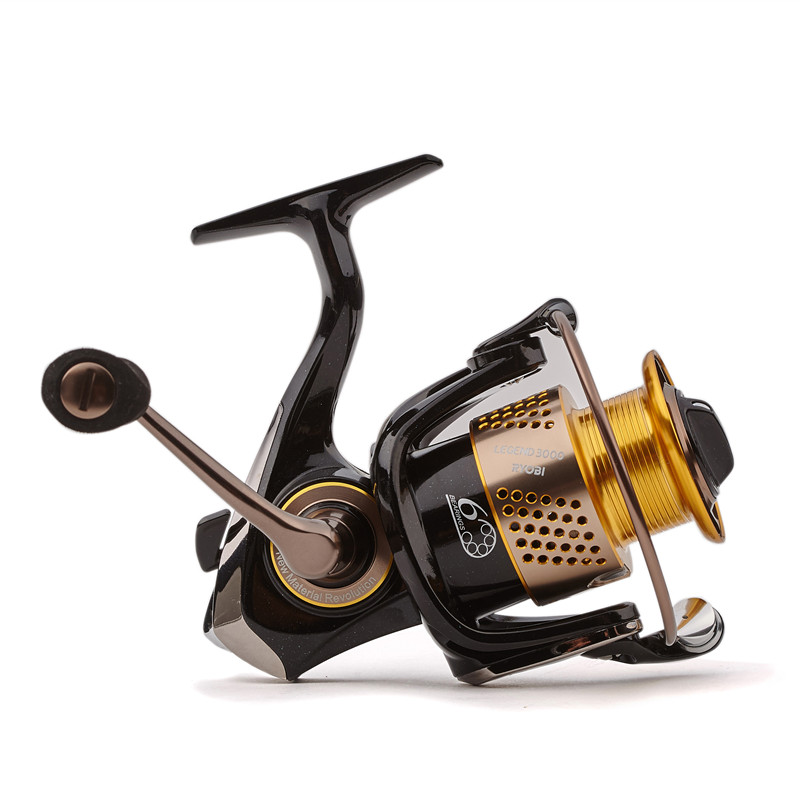 Original RYOBI Spinning Fishing Reel 6BB/5.1:1 LEGEND (SLAM) 1000-6000 Spinning Reel Carretes Pesca Moulinet Peche Carretilha 6