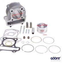 GOOFIT Performance Big Bore 47mm Cylinder Kit GY6 80cc for 139QMB ATV Scooter Moped Go Kart goofit motorcycles big bore 50mm cylinder rebuild kit gy6 50cc 139qmb racing scooter parts 64mm valve group 11