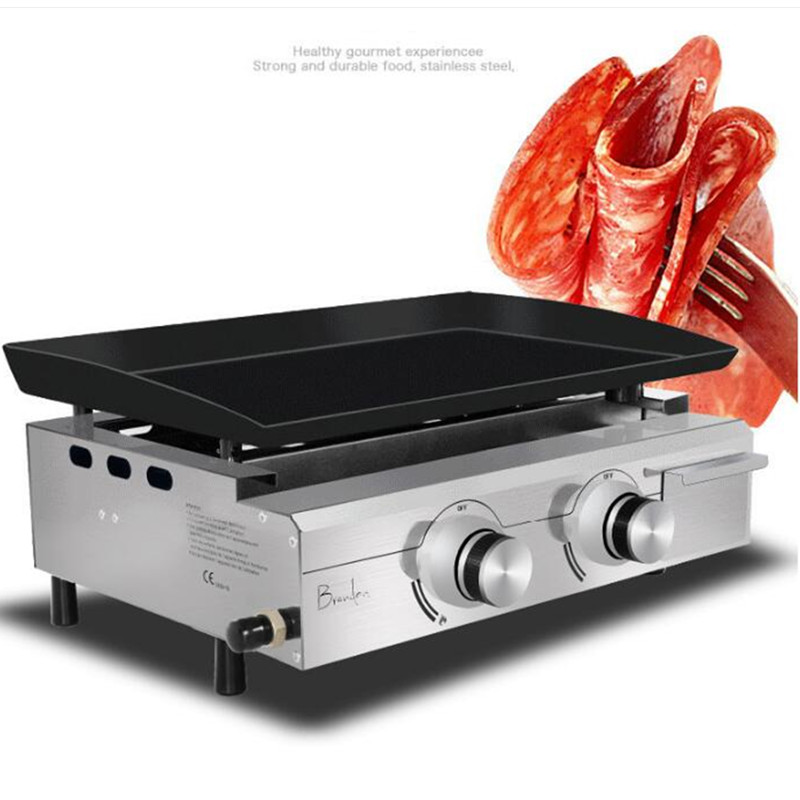 Gas Commercial Teppanyaki Enamel Oven Fried Rice Roast Cold Noodles Grill Machine Chicken Roster Desktop Grill Steak BBQ Oven thickening infrared oven charcoal bbq grill gas oven large family villas garden villa gas grill 1pc
