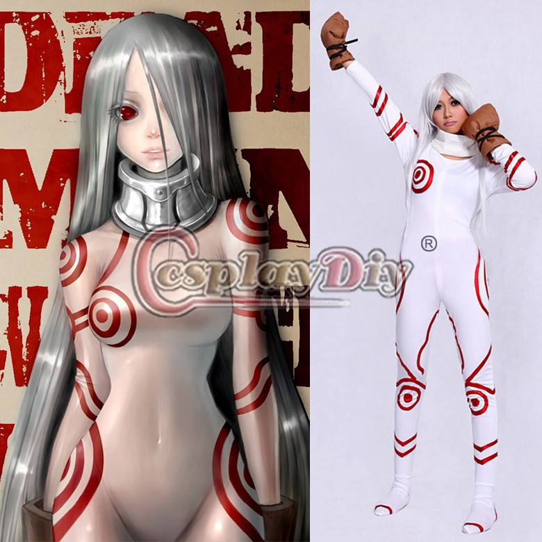 Cosplaydiy Deadman Wonderland Shiro Cosplay Costume Adult Women Clothing For Halloween Custom Made D0917 Without Wig
