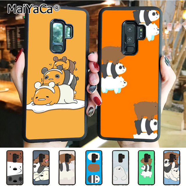 Maiyaca For We Bare Bears Wallpaper Soft Tpu Phone Case Cover For