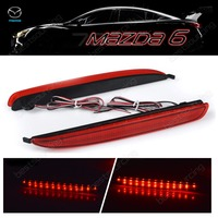 2x Red Rear Bumper Reflector LED Brake Stop Light GG 02 07 Mazda 6 Atenza Mazda6