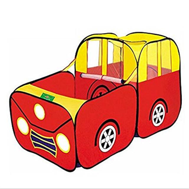 Venda QUENTE Do Bebê Dos Desenhos Animados Brinquedo Carro Tenda Crianças Tenda Portátil Dobrável Ao Ar Livre Indoor Play Game House Cubby Playhouse Respirável Cabana