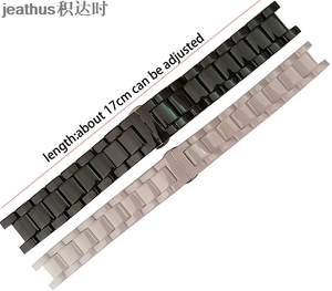 Image 3 - Jeathus butterfly buckle watchband concave ceramic watch band watch strap 20*11 16*9mm bracelet replacement for gucci omega GC