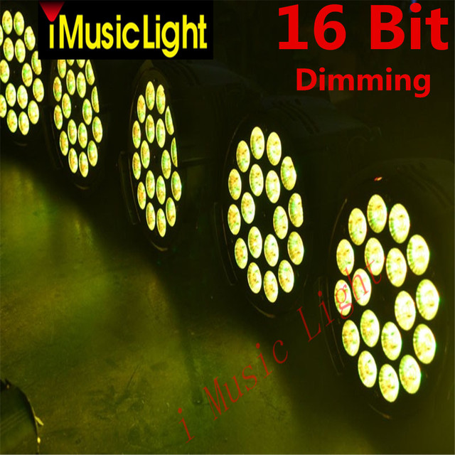 4Pcs/Lot New 18X12W RGBW 4in1 16 Bit Dimming Par LED Stage light Disco DJ Lighting DMX512