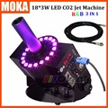 Dj DMX-512 Control eléctrico efecto etapa CO2 Jet aerosol máquina de humo 8-10 metros Led CO2 máquina de chorro