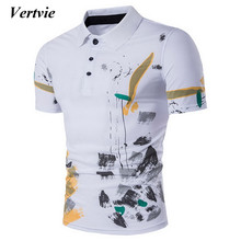 6c5c65b7 VERTVIE 2018 Summer Polo Shirt Men Short Sleeve Floral Printed Casual Tops  Male high quality Turn